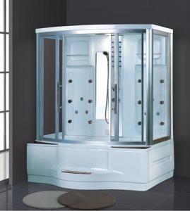 China Customized Infrared Sauna Cabin Wood Finish Sauna Bath AD-832 on sale