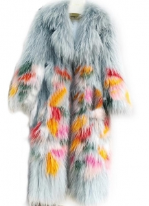 China Popular Real Raccoon Fur Coat on sale