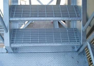 China Stair Tread Steel Grating - Firm Structure and Durable Life on sale