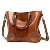 China Luggage, Bags & Wallets Retro Oil Skin Tote Bag for sale