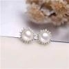China Natural Freshwater Pearl Ear Studs 029 for sale