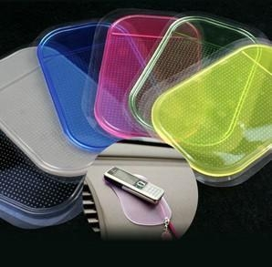 China Custom anti slip pad car pu gel sticky pad anti slip mat for cell phone in car on sale