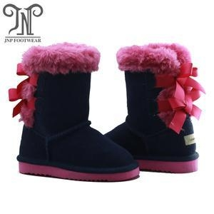 China Cute Kids Tall Children Navy Boots on sale