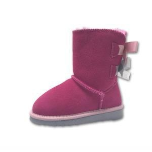 China Children Kids Snow Fashion Boots with Double Bows on sale