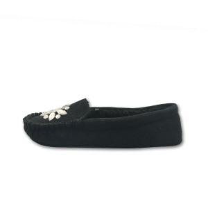 China black suede moccasins shoes slippers for women on sale