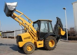 China High Configuration Tractor Loader Backhoe Operating Weight 7000 kg , CE on sale