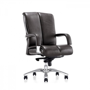 China Black Leather Office Chair on sale