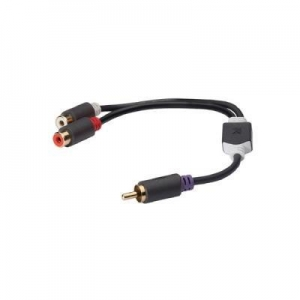 China Subwoofer Audio Cable 2x RCA Male - RCA Female 0.20 m Anthracite on sale