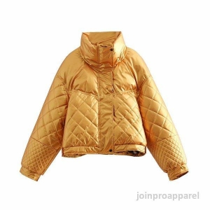 China bread puffy diamond quilting filling women jacket on sale