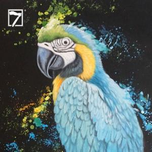 China Bird Macaw Wall Art Acrylic Painting on sale