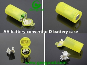 China battery convert case AA battery convert to D battery plastic case on sale