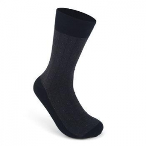 Quality Small dot mens dress organic black business cotton socks for sale