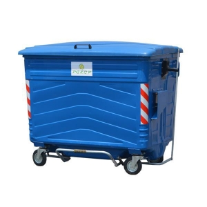 China 1700L Hot Dip Galvanization steel garbage trash can on sale