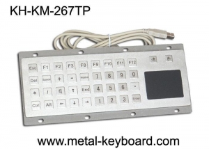 China Custom Mine Vandal proof Metal Panel Mount Keyboard with Touchpad Mouse on sale