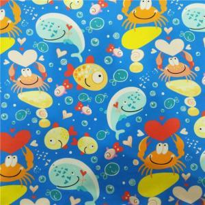 China Cute Undersea World Digital Print Nylon/Spandex Swimwear Fabric on sale