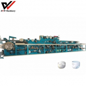 China Semi Servo Pull Up Baby Diaper Manufacturing Machine on sale