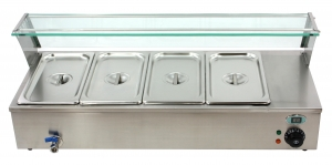 China Electric bain marie food warmer or bain marie temperature control supplier