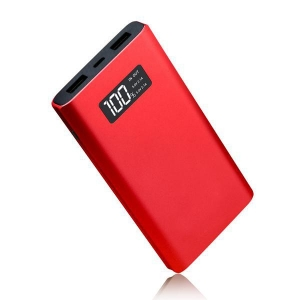China metal 10000mAh power bank with LCD screen on sale