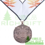 Custom Iron/brass stampted medal plating Antique Copper