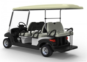 China Electric Utility Car 6 seater electric utility golf car with rear passenger seat on sale