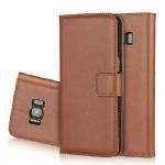 China Genuine leather wallet case Samsung Galaxy S8 Product No.:Ipo-M003 on sale