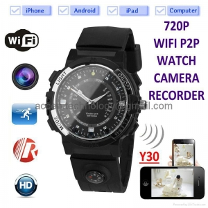China Y30 8GB 720P WIFI P2P IP Watch Camera Recorder IR Night Vision Motion Detection on sale