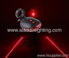 China New 5 LED & 2 Laser Launcher Bicycle Tail Light Safety LED Taillight Light Red P720 on sale