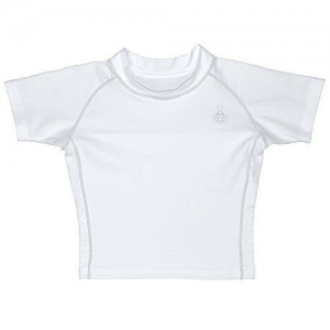 China I play. Baby Short Sleeve Rashguard Shirt, White, 12 Months on sale