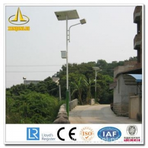 China Steel Solar Powered Outdoor Lamp Post on sale