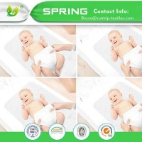 China Baby Organic Waterproof Crib Mattress Pad - Hypoallergenic Quilted Crib Fitted on sale