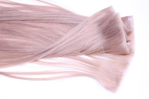 China PU Skin weft hair extension--#Light Pink on sale
