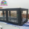 China Outdoor inflatable car capsule showcase, airtight car tent for sale