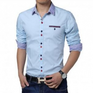 China Men's Fashion Luxury Slim Fit stylish Dress Shirts long sleeve Casual Shirts on sale