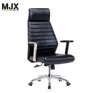 China Competitive high back black PU swivel chair with PU padded seat&back on sale