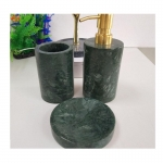 China Supplier Indian Green Marble Bathroom Accessories Sets