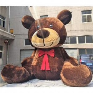 China inflatable plush brown bear cartoon model promotion on sale