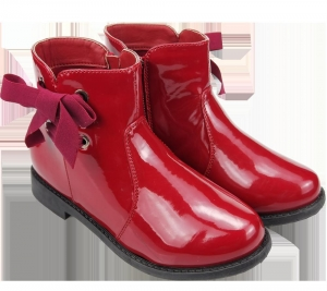 China Kids shoes Bowknot Girl's lace-up Boots on sale