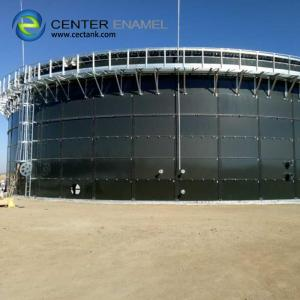 China 450000 Gallon Glass Fused To Steel Potable Water Storage Tanks With Aluminum Dome Roofs on sale