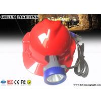 China 1.2Watt 230Lumens Corded Security Rechargeable Mining Cap Lamp with 15000Lux Strong Brightness on sale