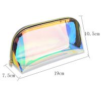 China Eco Friendly Transparent Travel Holographic TPU Cosmetic Bag With Zipper on sale