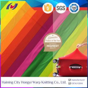 China Good Quality 4 Way Stretch Warp Knitted Polyester Spandex Rainbow Elastic Suitcase Fabric on sale