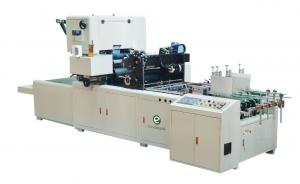 China EcooGraphix Paper Box Automatic Window Patching Machine on sale