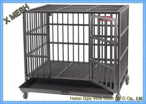 China Powder Coated Welded Wire Mesh Baskets Dog Cage Full Sizes Pets Enclosure on sale