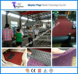 China Plastic PVC Coil Car Mat Extrusion Machinery Manufacturing Factory PVC Coil Mat Machine Price on sale