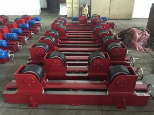 China Manual Screw Pipe Rotators For Welding 2x0.55 Kw Motor Power CE Certification on sale