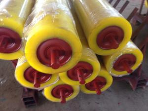 China Hot Sell Wear Resistant Belt Conveyor Rubber Coated Rollers on sale