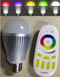 China Milight RGBW 9w led 640000 color changing rgb led bulb Wifi or 2.4G RF touch remote 9WE27 on sale