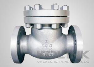 China Cast Steel Swing Check Valve , Class 150-1500 Non Return Valve WCB Flanged on sale