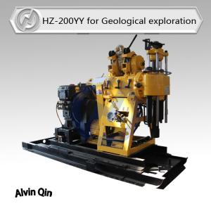 China HZ-200YY small well drill rig compacted with mud pump, diesel engine with electrical start on sale