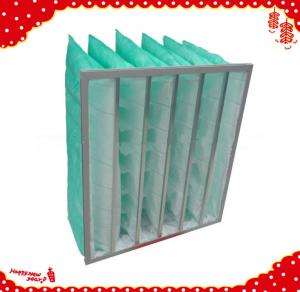 China Grade f7 secondary efficiency synthetic fibre  rigid pocket filter for air conditioner on sale